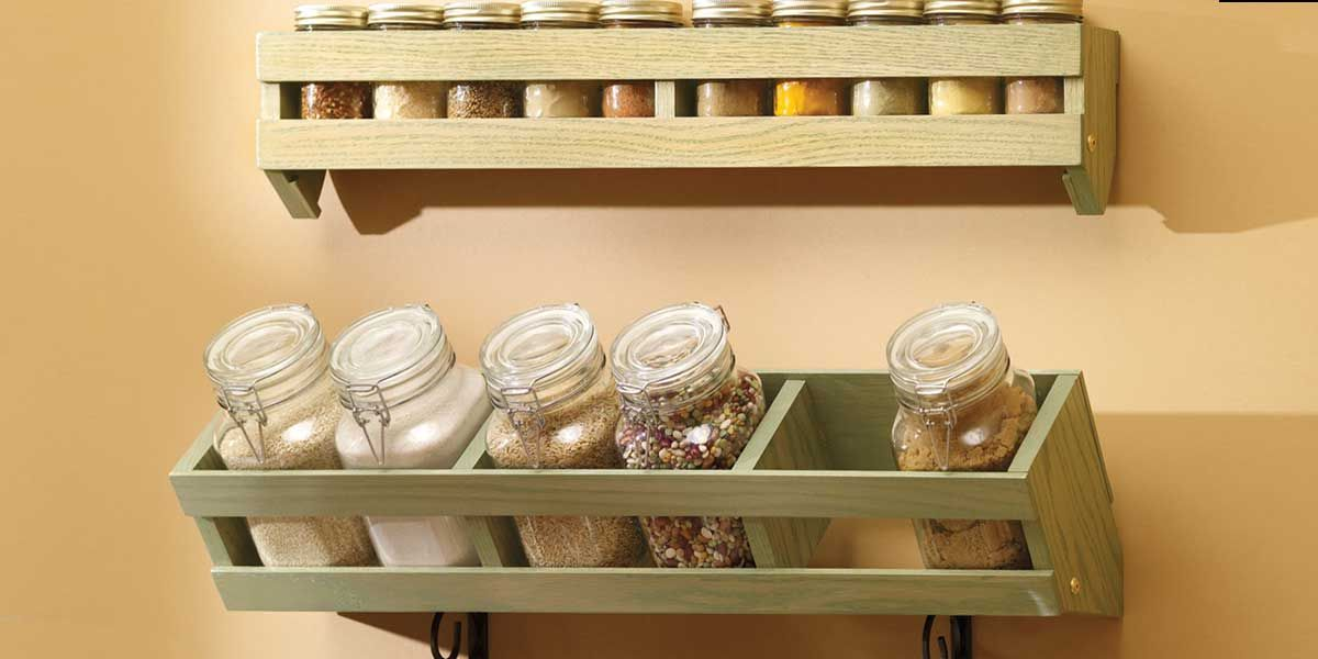 DIY Canister and Spice Rack