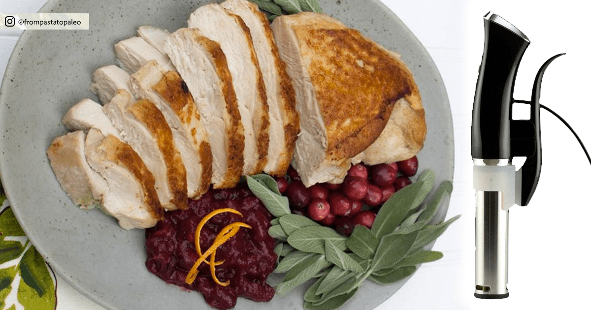 Sous Vide Turkey Breasts with Cranberry Orange Sauce