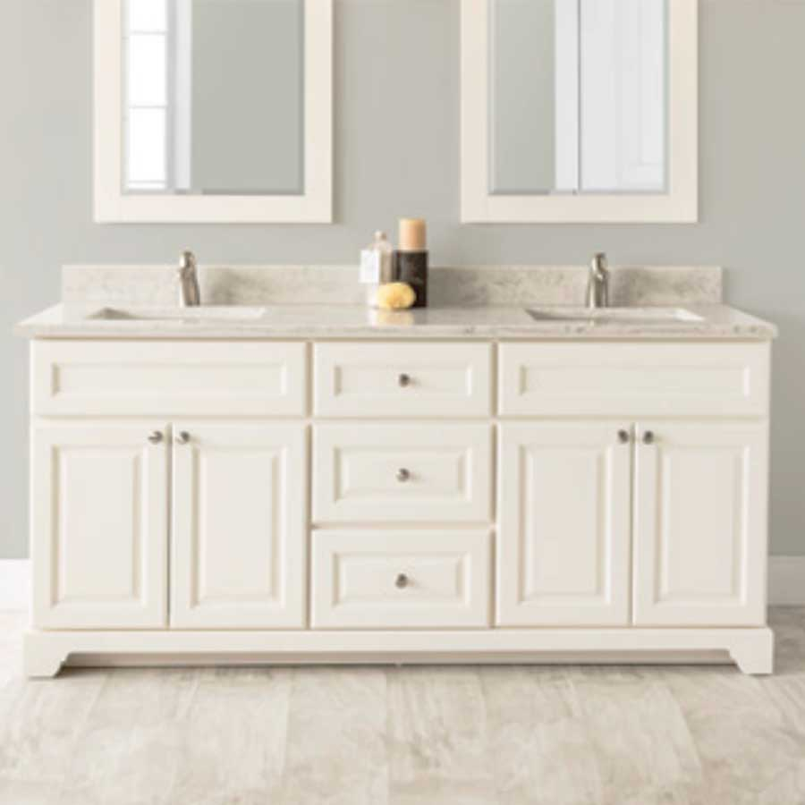 72 Vanity With Granite Or Quartz Top And 2 Undermount Sink