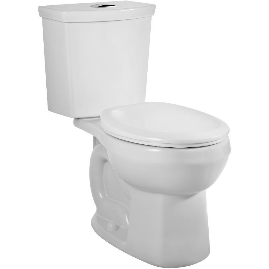 American Standard White H2 Option Dual Flush Lined Round