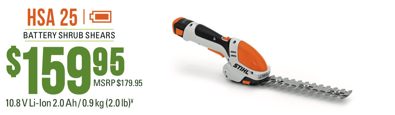 STIHL HSA 25: Battery shrub shears