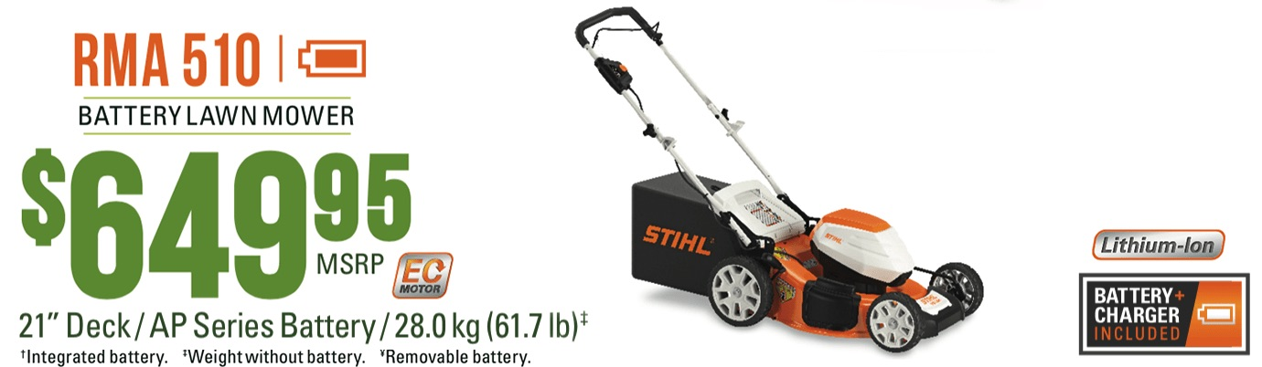 STIHL RMA 510: Battery lawnmower for working on larger areas